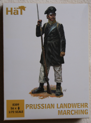 HaT 1/72 HAT8309 Prussian Landwehr Marching (Napoleonic)